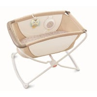 Fisher-Price Rock 'n Play Portable Bassinet - Tan Lattice