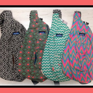 Monogrammed Kavu Rope Bags-taupe and black- Great for girls of all ages.  Great  for Birthdays, Anniversaries, etc
