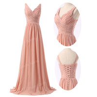 Formal Chiffon Long GRAD Gown Party Prom Bridesmaid Masquerade Evening Dress New