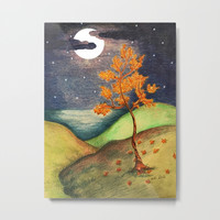 Fire Tree Metal Print by ES Creative Designs