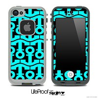 Black and Turquoise Collage Skin for the iPhone 5 or 4/4s LifeProof Case