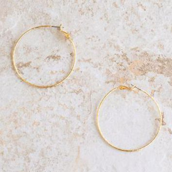 Emily Gold Twisted Hoop Earrings