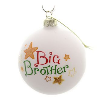 Holiday Ornaments LITTLE MIDDLE BIG SIBLING BALL Family Siblings C4890 Big Brother