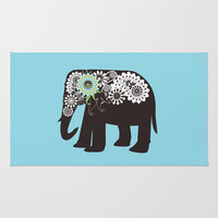 Paisley Elephant Accent Rugs for Any Room in Your House