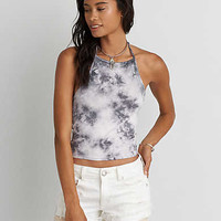 AEO First Essential Hi-Neck Halter Top , Lead