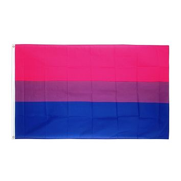 Hanging 90*150cm LGBT bi pride bisexual Flag For Decoration