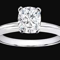2.51 carat Cushion cut diamond anniversary ring white gold