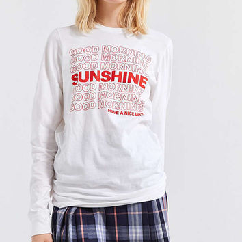 Good Morning Sunshine Long Sleeve Tee | Urban Outfitters