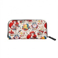 Ariel and Ursula Tattoo Print Wallet