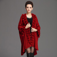Capes and poncho Vintage shawl sweater overcoat for Women
