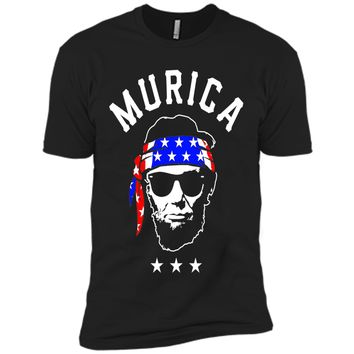 Murica Abe Lincoln American Patriotic Tee