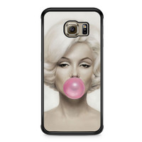 Marilyn Monroe Bubble Gum Samsung Galaxy S6 Edge case