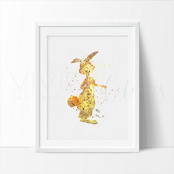 Rabbit, Winnie the Pooh Watercolor Art Print