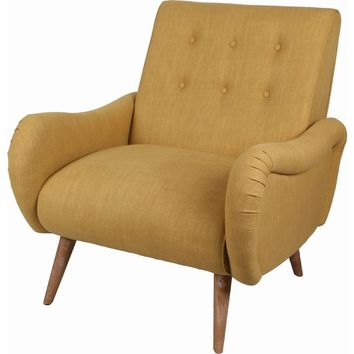Joanne Tufted Arm Chair Brushed Smoke Legs, Pistachio