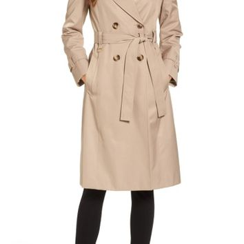 Via Spiga Double Breasted Trench Coat | Nordstrom