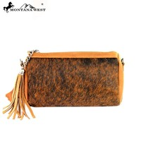 RLC-L041 Montana West 100% Real Leather Clutch-Tan