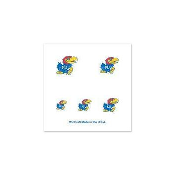 Licensed Kansas Jayhawks Official NCAA Varying Fingernail Tattoo Set KU by Wincraft KO_19_1