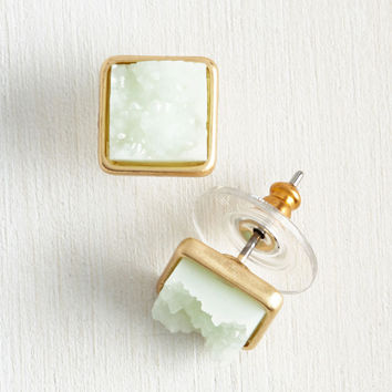 Debonair and Square Earrings | Mod Retro Vintage Earrings | ModCloth.com