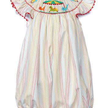Mom & Me Smocked Carousel Baby Bubble