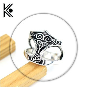 The avengers jewelry The thor ring vikings rings Symbol Norse Viking Mens Boys Zinc alloy Biker Ring Fashion Jewelry