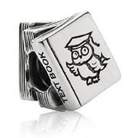 Authentic Highest Quality Study School College Book Charm Bead Fits Pandora Chamilia Biagi Trollbeads European Bracelet:Amazon:Jewelry