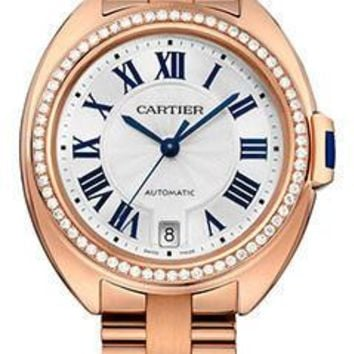 Cartier - Cle de Cartier 35mm - Pink Gold and Diamonds
