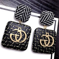 GUCCI adorn the role of flannelette earrings GG metal personality fashion new style temperament earrings
