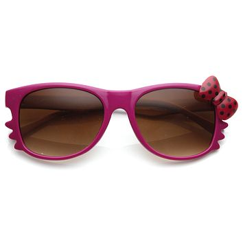 Cute Hello Kitty Colorful Polka Dot Bow Sunglasses 8799