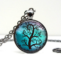 Tree Pendant Necklace : Black Forest