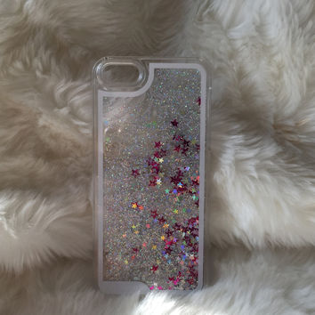 Silver Star Fall iPhone case