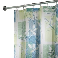 InterDesign Botanical Shower Curtain, 72 x 72-Inch, Vivo, Blue/Green