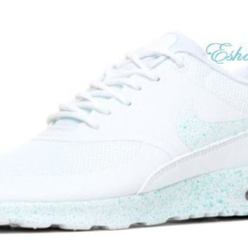 SALE Light Blue Speckle White Nike Air Max Thea Sneakers