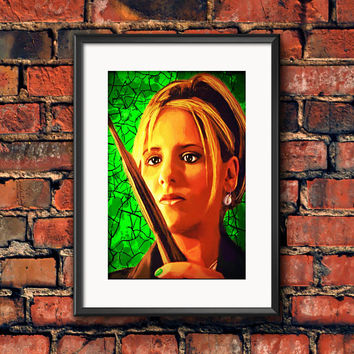 Buffy the Vampire Slayer Buffy Summers Sarah Michelle Gellar Horror Television Art Work Print