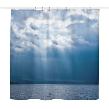 Sunbeams On The Ocean Shower Curtain
