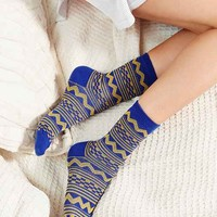 Multicolor Pattern Crew Sock
