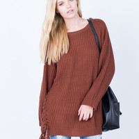 All Tied Up Sweater Dress