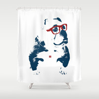 Bulldog Shower Curtain by Matt Irving