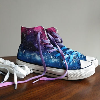 ace0aa7342d7 Free shipping women Casual shoes Harajuku tie-dyeing lilac gradient  universal platform high flatcanvas women s