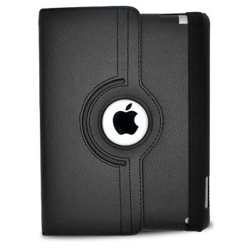 iPad 2/ 3 Standing 360 Degree Black Leather Case