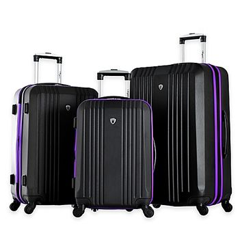 Olympia® USA Apache 3-Piece 4-Wheel Expandable Spinner Luggage Set