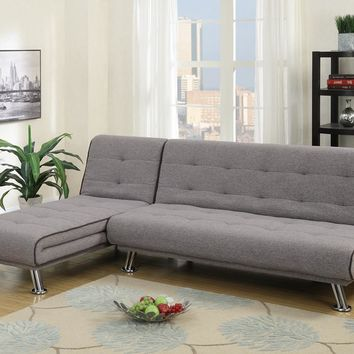 2 Piece Sectional Set With Adjustable Tufted Back In Gray