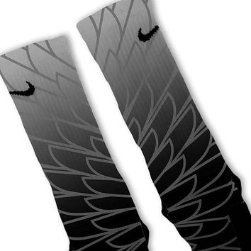 Wings 2 Customized Nike Elite Socks Fast Shipping!