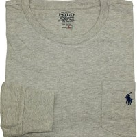 Polo Ralph Lauren Classic-Fit Crewneck Pocket Tee, New Grey Heather, Medium