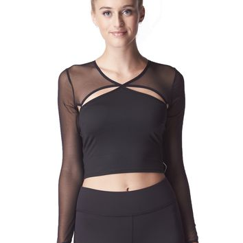Michi Pistol Crop Top - Black