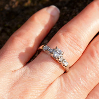 Classic 1950's White Gold Diamond Engagement Ring
