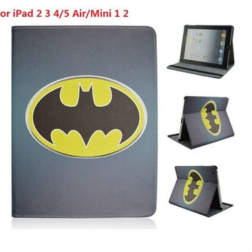 Cartoon Batman PU Leather Universal Shockproof Anti-Dust Tablet Protective Cover Case for iPad 2 3 4/Air/Mini 1 = 1927814404