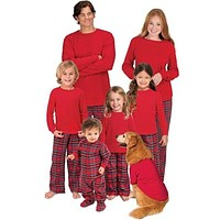 Family Matching Pajamas Red Plaid Sets