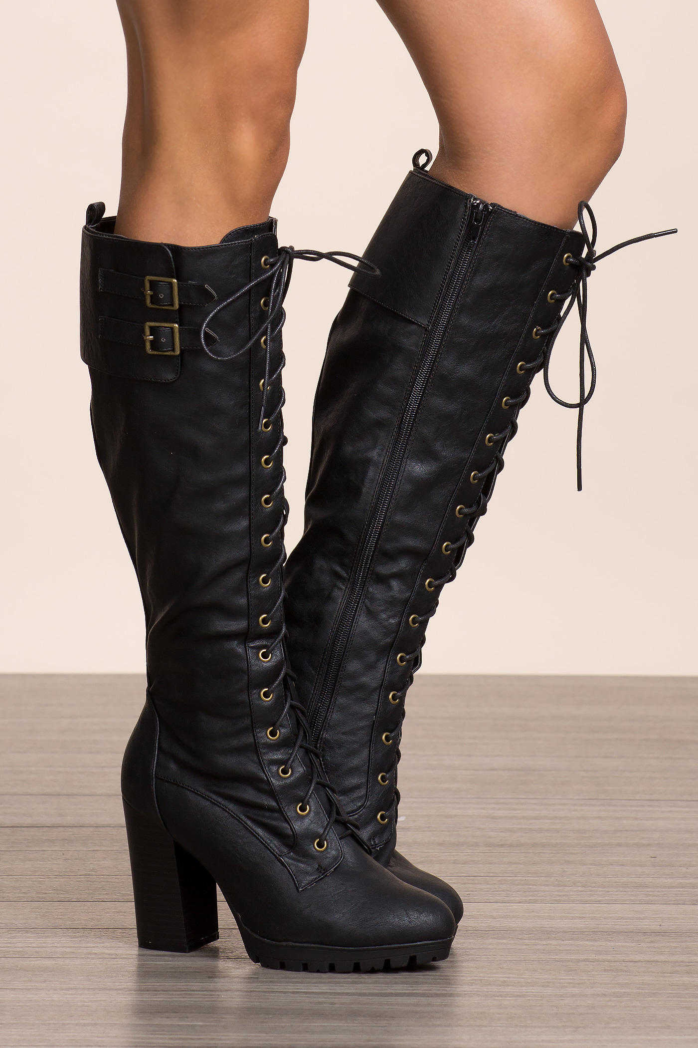 Kimber-11 Bae Watch Lace Up Boot from A GACI ad820eb795b0