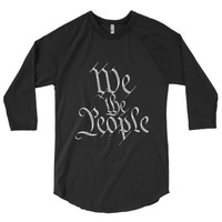 We The People 3/4 Sleeve Softball Raglan