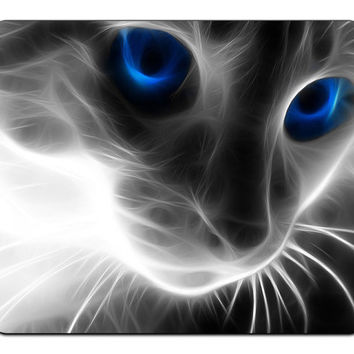 Abstract Manipulation Xray Blue Eyes Cat Optical Mousepad Mouse Pad Mat